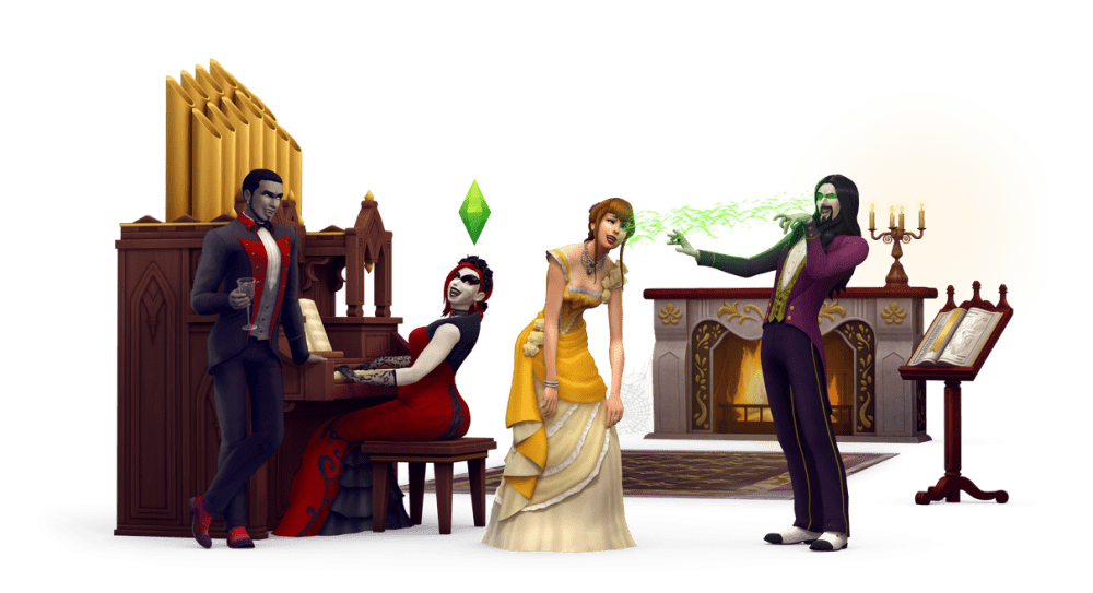 """Чит коды Sims 4 """"Вампиры"""": на очки, навыки и обращение"""