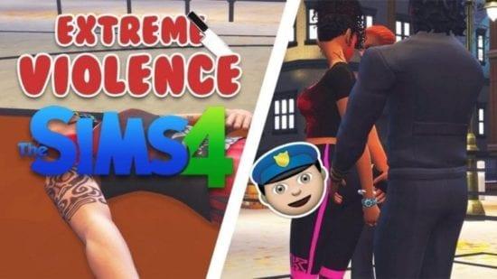 Мод на убийство и насилие в Sims 4: Чрезмерная жестокость