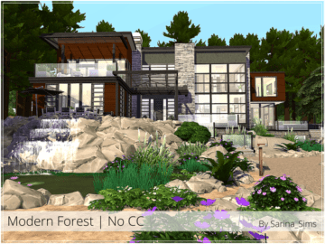Жилой дом Modern Forest от Sarina для Sims 4