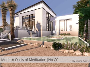 Жилой дом Modern Oasis от Sarina для Sims 4