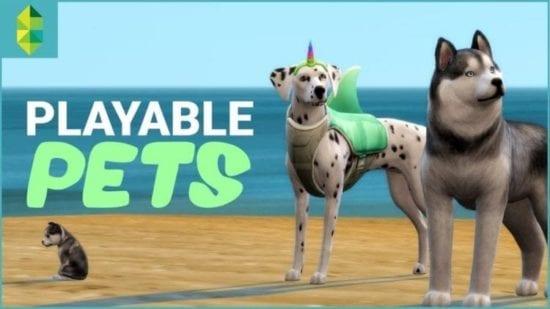Мод на управление питомцами в Sims 4: Playable Pets