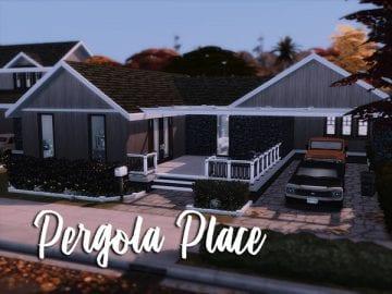 Уютный дом для Sims 4: Pergola Place
