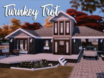 Маленький и уютный дом для Sims 4: Turnkey Trot