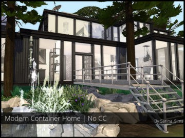 Жилой дом Modern Container Home от Sarina для Sims 4