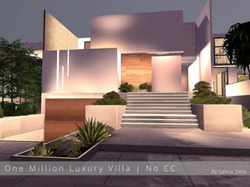Жилой дом One Million Luxury Villa от Sarina для Sims 4