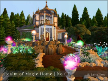 Жилой дом Realm of Magic Home от Sarina для Sims 4