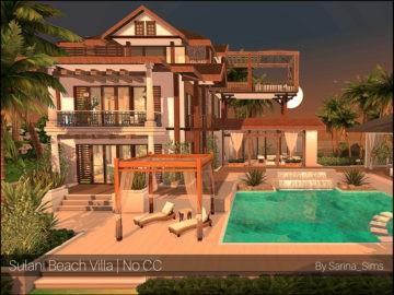 Жилой дом Sulani Beach Villa от Sarina для Sims 4