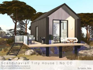 Компактный жилой дом Scandinavian Tiny House от Sarina для Sims 4