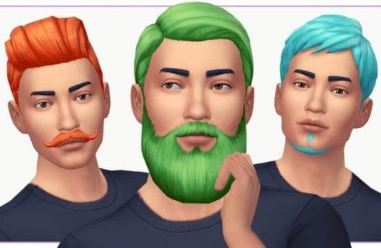 Мод на автоматический рост бороды и бритье в Sims 4