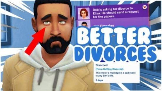 Мод на реалистичный развод в Sims 4: IR Divorce