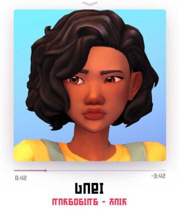 Женская прическа Gabi Hair от Marcosims для Sims 4