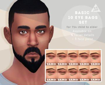 Мешки под глазами Eye Bags Set от Tamosim для Sims 4