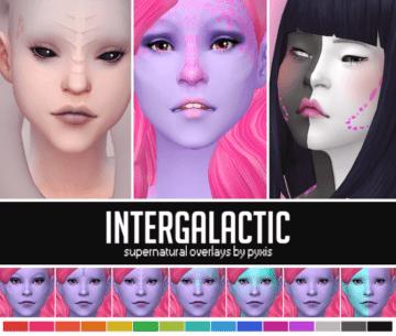 Инопланетный скин INTERGALACTIC от PYXIS для Sims 4