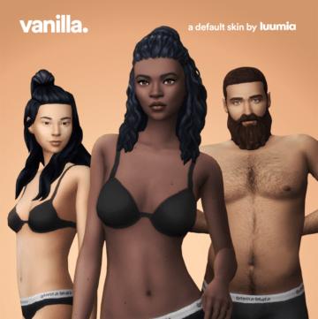 Дефолтный скин Vanilla от LUUMIA для Sims 4
