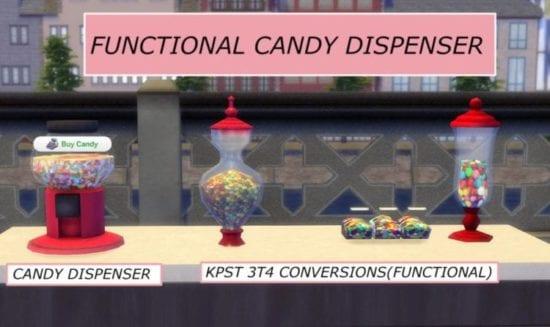 Мод на функциональный автомат с конфетами Sims 4