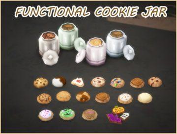 Функциональная банка с печеньем для Sims 4
