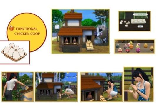 Мод на курятник в Sims 4: функциональные куры