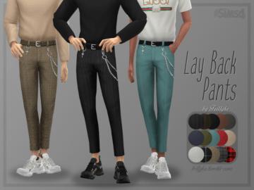 Мужские брюки LAY BACK PANTS от TRILLYKE для Sims 4