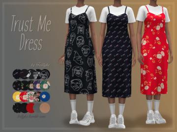 Удлиненное платье с футболкой Trust Me Dress