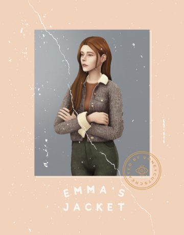 Женская куртка  emma's jacket для Sims 4
