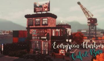 Кафе и бар в стиле лофт Sims 4: Evergreen Harbor Cafe&Bar