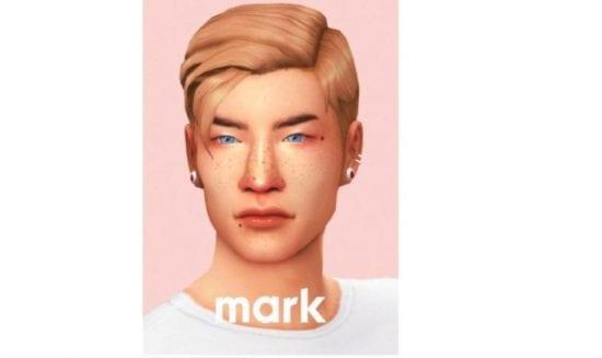 Стильная прическа для мужчин Sims 4 Maxis Match: Mark Hair