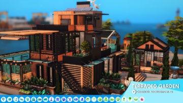 Большой дом в экостиле Sims 4: Terraced Garden