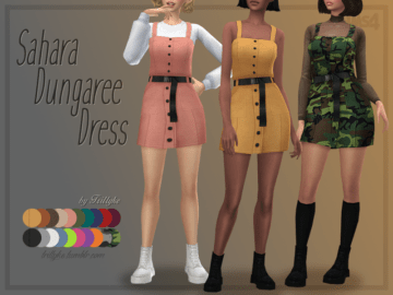 Платье SAHARA DUNGAREE DRESS