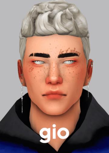 Мужская прическа Gio Hair от veve для Sims 4