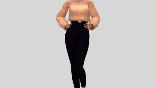 Блузка, заправленная в брюки Sims 4: UNDO