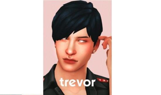 Неряшливая мужская прическа Sims 4 Maxis Match: Trevor Hair