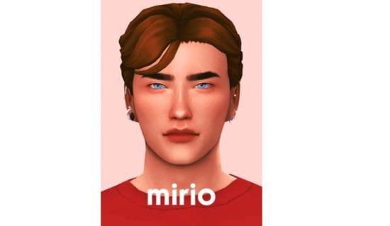 Неряшливая мужская прическа Sims 4: Mirio Hair
