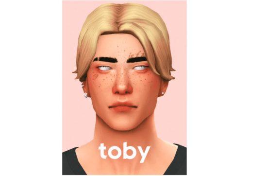 Мужская прическа с неряшливой укладкой Sims 4: Toby Hair