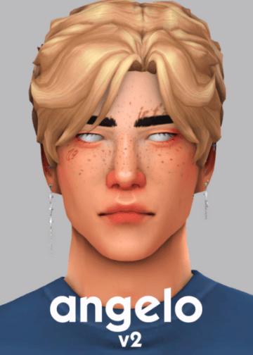 Мужская прическа  Angelo v2 Hair от veve для Sims 4