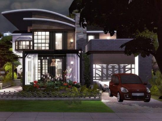 Уютный коттедж для обычной семьи в Sims 4: без CC