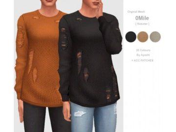 Мужской свитер с дырками Sims 4: 0Mile Sweater
