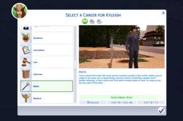 Карьера мафиози для Sims 4: Mafia Career
