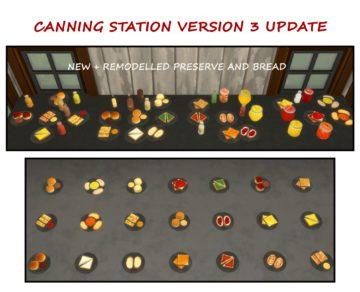 Мод на консервирование для Sims 4 - Canning Station v.3