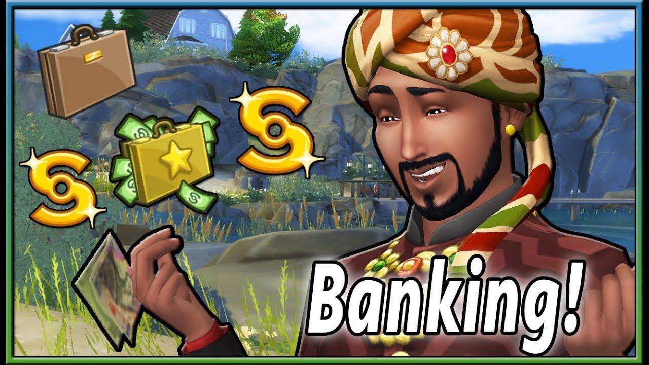 Мод на банк для Sims 4: Sim National Bank