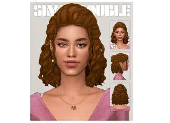 Короткая прическа с волнистыми волосами Sims 4: Andre