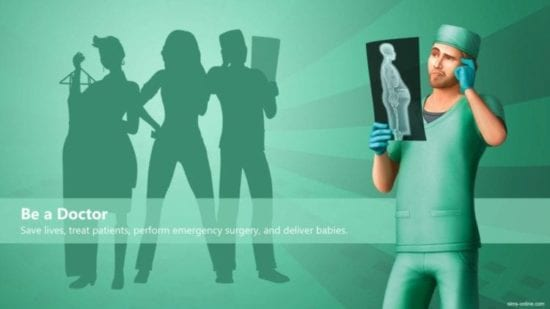Мод на улучшенный персонал больницы Sims 4: Better Hospital Staff