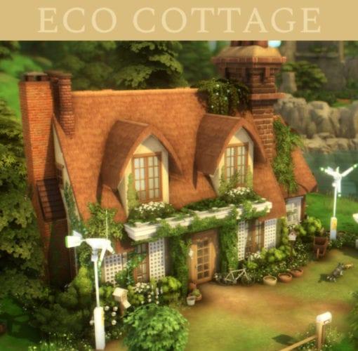 Эко-коттедж в деревенском стиле для Sims 4: eco cottage