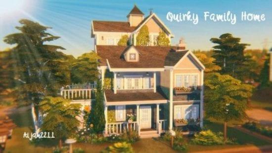 Большой семейный дом для Sims 4: Quirky Family Home