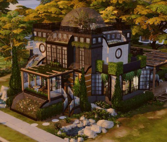 Современный дом в стиле эко-модерн Sims 4: eco paradise