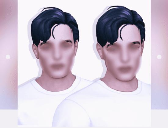 Мужская прическа Sims 4 с растрепанными волосами: Tory hair