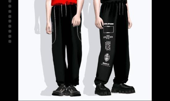 Мужские спортивные штаны Sims 4 оверсайз с принтом: summer of june track pants
