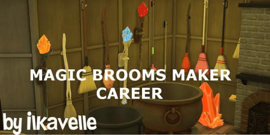 """Карьера для Sims 4 """"Создатель волшебных метел"""" - Broomstick Maker Career"""