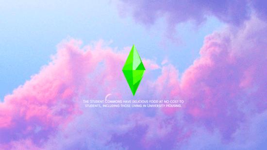 Мод на замену загрузочного экрана в Sims 4: PINK & PURPLE CLOUDS
