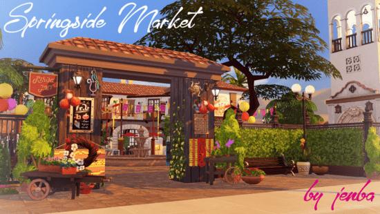 Большой рынок для Sims 4: Springside Market