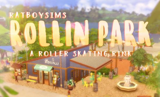Роллер-парк для Sims 4: ROLLIN' PARK, A ROLLER SKATING RINK